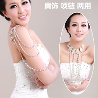 Colour bride rhinestone butterfly chain knot tassel wedding dress accessories wedding accessories hair accessory necklace