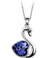(Minimum order $10) 2014 new 008 Austrian crystal necklace wholesale Peach Heart Love women fashion jewelry