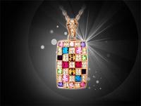 (Minimum order $10) 2014 new fashion queen Colorful Austrian Crystal Bridal luxury sweater chain collarbone chain women fashion