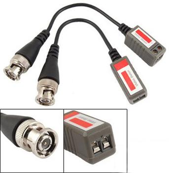 Freeshipping Twisted BNC CCTV Video Balun passive Transceivers UTP Balun BNC Cat5 CCTV UTP Video Balun up to 1000ft Range