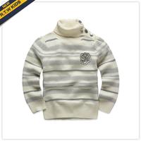 Rtw 2013 autumn female child slammed turtleneck stripe pullover sweater rkgm33274