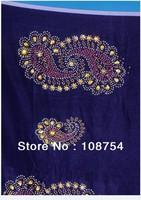 Korea velvet lace, lace fabric,nice stone, hot design, rapa material.fast delivery, V146 royalblue