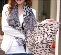 hot Wholesale fashion lady beautiful leopard scarf Shawl