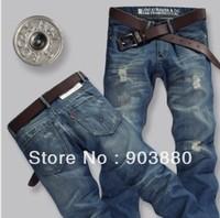 Free Shipping HOT!!!2013 fashion men jeans Casual jeans men famous 100% cotton cheap price Slim acid men's jeans