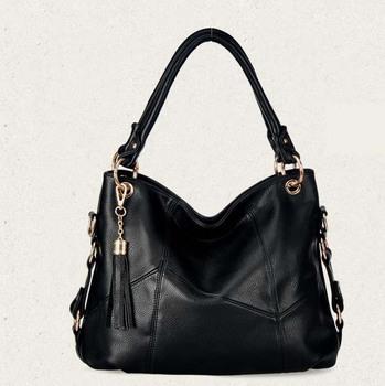 2014 designer handbag high quality  women messenger bags classics tassel Women Handbag black bolsas femininas 40*27*15cm