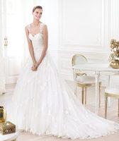 2014 Elie Saab New Design Ivory Sexy Vestido De CasamentoTulle Elegant Real Lace A-Line Wedding Dresses Free Shipping hpo61
