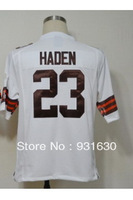Wholesale Cheap American Football Cleveland 23 Joe Haden White Game Jerseys Stitched Number Name Free Shipping