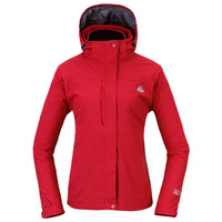 Outdoor oursky women's three-in twinset windproof waterproof outdoor jacket light