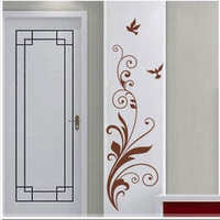 Classic personality wall stickers flower bird glass stickers diy background stickers m037