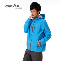 Grail irigaray male outside sport hiking male 2.5 single tier outdoor jacket water-proof and free breathing