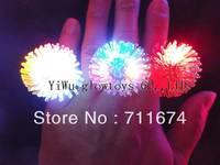 Free shipping 500pcs/lot Cool Led Light Up Flashing Bubble Elastic Ring Rave Party Blinking Soft Finger Lights
