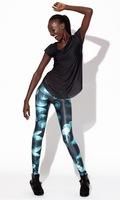 FREE SHIPPING 2013 new arrival hot women's fashions jellyfish print  black MIlk pencil Pants Sexy slim Leggings for women