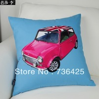 Wholesale/Retail 45cm*45cm Blue & Red Car Pillow Case
