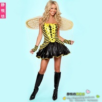 Halloween clothes yellow little bees queen of the princess of the loading costumes costume