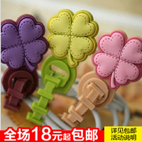 flower wrapped wire device earphones cable winder 30g