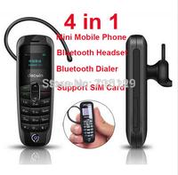 Aiek A8 Mini Bluetooth Mobile Phone +Bluetooth Earphone+Bluetooth Dialer Cell Phones Russian French Spanish Multi Language