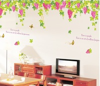 grapes butterfly home decoration wall decals princess love bedroom large wall art stickers family tree adhesive mural wall decal
