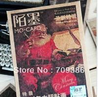 Free shipping, vintage Christmas Special greeting Mini christmas post card, 30 sheets/set, 2 sets/lot