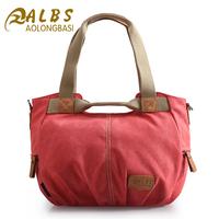 Free Shipping Orlon waterproof canvas female bag shoulder bag messenger bag handbag cloth multi-pocket streak