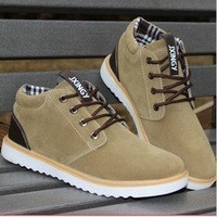 New arrival men's shoes fashion male skateboarding shoes casual shoes nubuck leather male shoes