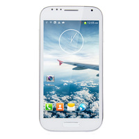 Free shipping C20 White S4 i9500 5.0 inch MTK6572 Dual core 1.2GHz 512MB+4GB 8MP camera GPS 3G Dual SIM 854*480 Android 4.2.2