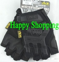 Mechanix M-Pact Military Airsoft Glove Racing Hunting Cycling Motorbike Bicycle Bike Half Finger Gloves S M L XL Black