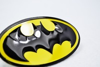 2 pcs Aluminum Batman Emblem badge sticker