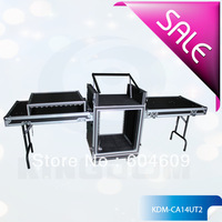 Professional shockproof Custom Made Mixer case with DJ Table ,3 doors  case with double support table