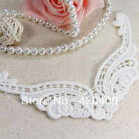 Free Shipping Handmade DIY 100% Cotton Water Soluble White Lace Appliques