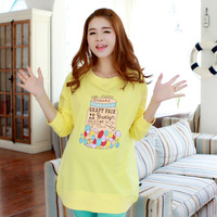 Maternity long-sleeve T-shirt maternity clothing autumn fashion 2013 multicolour candy buckle top