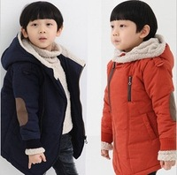 new 2013 Children's clothing  Autumn Winter Kids Boys Hoodies Zipper Thicken Warm Jacket Coats Outerwear for Boys Free shipping