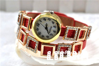 Luxury Watch Woman Fashion Imitation Diamond Shinning Quartz Watch wrist watch 8 COLORS Free Shipping