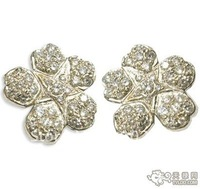 FREE SHIPPing /NEW STYLE RHINESTONE CRYSTAL ANTIQUE  SILVER PLATED FLOWER  BROOCH  PIN
