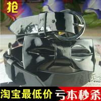 Fashion exquisite bow belt double buckles belt women's strap