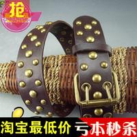 Fashion women's belt vintage copper rivet faux female belt strap punk women's belt