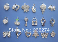M41 Wholesale 100 Pcs/Lots Mix DIY Rhinestone Charms Hang Charm pendant