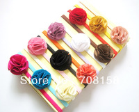 free shipping,300piece/lot Headbands Girl Babys Headband Hairband Cloth Flower Headwear