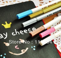 Free DHL Wholesale stationery diy photo album black card paint pen STA metallic color pen marker pen mix color 500pcs/lot