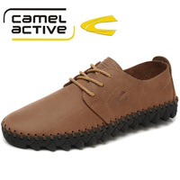 New 2013 Fashion Brand Camel Active Genuine Leather Men Oxfords Casual Shoes Comfort Soft Flats For Men,Size 40-44,Free Shipping