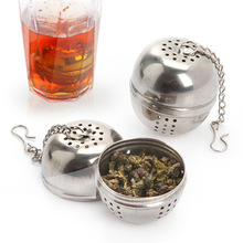 Free shipping!Stainless steel tea ball caster seasoning ball soup spice drain ball soup pot tea strainers ball can be hung(China (Mainland))