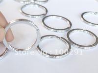 35mm Rhodium Plated Key Chains&Key Rings&Split Rings Jewelry Findings Jewelry Accessories Jewelry Fittings Nickel Free!!