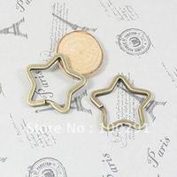 35mm Star Shape Antique bronze Key Chains&Key Rings&Split Rings Jewelry Findings  Accessories Nickel Free!!