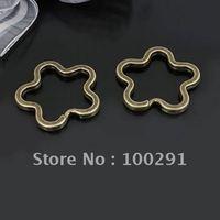35mm Antique bronze Flower shape Split rings Key rings Jewelry Findings Accessories Nickel Free Lead Free!!
