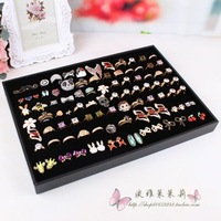 Flapless ring box quality pallet stud earring display tray jewelry holder accessories storage tray ring packaging box