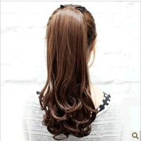 ovely temperament long curly hair piece three color options