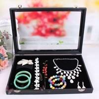 Plate jewelry box /flip glass jewelry box