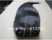 2013 Free Shipping Black Color Straight Remy Hair Weft,Indian Wave Hair