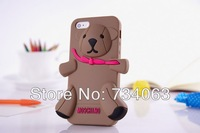 2013 Fashion new arrival Milan Moschino 3D cute beby bear bling luxury silicone case cover for iphone 5 5g iphone5 MOQ:2 (55O)