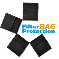 4 Pockets Camera Lens Filter Wallet Case For 49mm - 77mm Holder Pouch UV CPL, Free Shipping