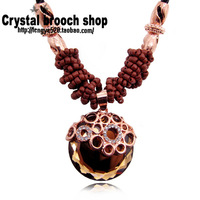 Big crystal zircon large size quality design necklace long chain accessories